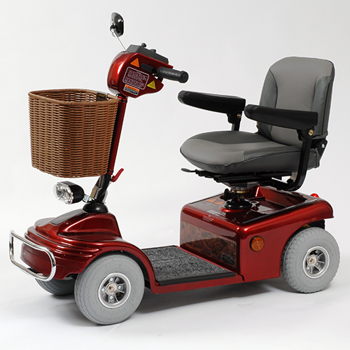 Four-wheeled mobility scooter