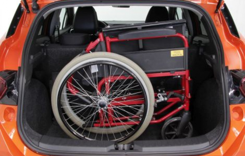 Wheelchair in boot